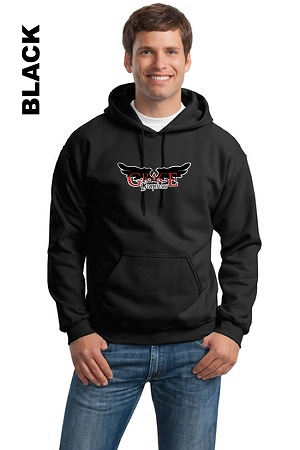 Gildan 18500 Adult Pullover Hoodie Front Full Logo (Tax Included)
