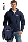Gildan 18600 Adult Zip-Hoodie Pocket Logo and Back Logo (Tax Included)