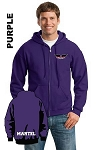 Gildan 18600 Adult Zip-Hoodie Pocket Logo and Personalize Name (Tax Included)