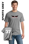 Gildan 5000 Adult Tee Front Full Logo and Personalize Name & Number (Tax Included)